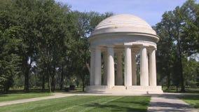 District de Columbia le mémorial de guerre banque de vidéos