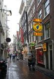 District de lumière rouge Amsterdam photo stock
