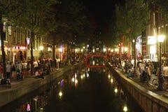 District de lumière rouge Amsterdam photo libre de droits