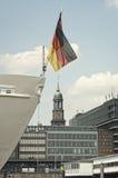 District de port de Hambourg, Allemagne Image stock