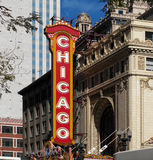 District de théâtre - Chicago - les Etats-Unis Photos libres de droits