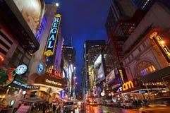 District de théâtre, Manhattan, New York City Photos stock