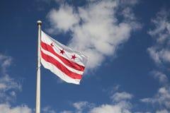 District de Vlag van van Colombia (Washington, gelijkstroom) Stock Foto