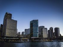 District des affaires central de CBD et aust circulaire de Sydney de secteur de quai image stock
