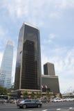 District des affaires central de l'Asie Pékin, Chine, architecture moderne, bâtiments beaucoup-racontés de ville Images stock