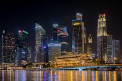 District des affaires central de Singapour le 19 novembre 2016 photo stock