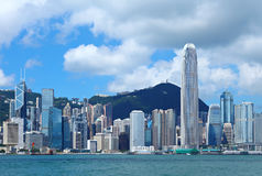 District des affaires central en Hong Kong images stock
