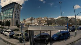 District des affaires d'Athènes banque de vidéos