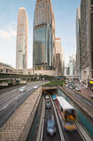 District des affaires de central de Hong Kong Photographie stock