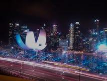 District des affaires de Singapour Photos stock