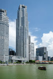 District des affaires de Singapour Photos stock