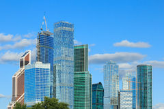 District des affaires de ville de Moscou Photos stock