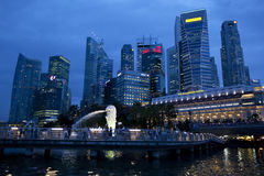 District des affaires, Singapour Photo stock