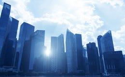 District des affaires urbain de bureau à Singapour pendant le temps de jour photos stock