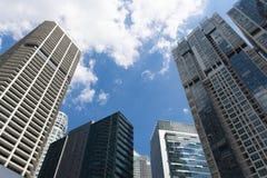 District des affaires urbain de bureau à Singapour pendant le temps de jour images libres de droits