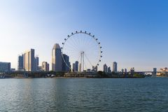 District des affaires urbain de bureau à Singapour pendant le temps de jour photographie stock
