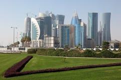 District du centre neuf de Doha images libres de droits