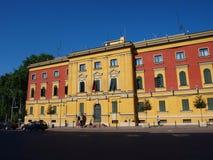 District du gouvernement, Tirana, Albanie Images libres de droits