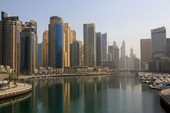 District in Dubai at morning Royalty Free Stock Photography