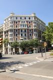 District Eixample in Barcelona Stock Afbeelding