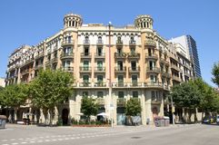 District Eixample in Barcelona Royalty Free Stock Photography