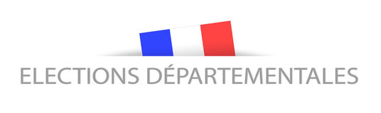 District elections in French with a part hidden french flag Royalty Free Stock Images