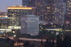 District financier d'horizon de Los Angeles photos stock