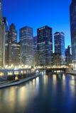 District financier de Chicago photos libres de droits