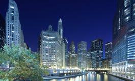 District financier de Chicago image libre de droits