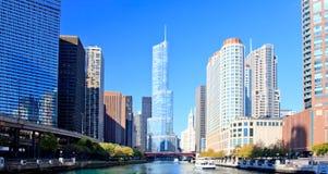 District financier de Chicago image stock
