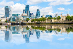 District financier de Londres Image stock