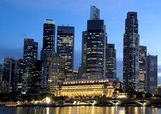 district financier de Singapour Photo libre de droits