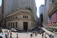 District financier New York ity Photographie stock libre de droits
