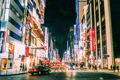 district ginza tokyo στοκ εικόνες