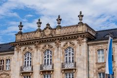 District Government of Upper Franconia Germany. Historical Facade of the district Government of Upper Franconia in Bayreuth Germany. Bayreuth is a town in upper royalty free stock image