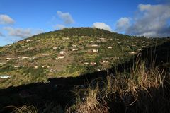 District of Half Tree Hollow on St Helena Island Stock Photography