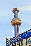 District heating plant in Vienna, designed by Friedensreich Hundertwasser Royalty Free Stock Photo