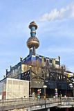District Heating Plant in Vienna designed by Friedensreich Hundertwasser Stock Photography
