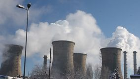 District heating power plant stock footage