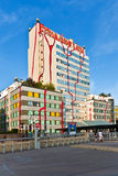 District heating Vienna of Hundertwasser forms Stock Images