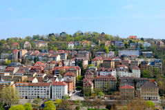 District on the hill in Stuttgart, Panoramic view Royalty Free Stock Photo