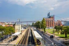 District industriel de port de Lisbonne Photos stock