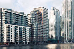 District jaune canari de quai, Londres Image libre de droits