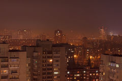 District in Kiev at night Stock Images