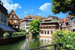 Summer in Strasbourg Royalty Free Stock Images