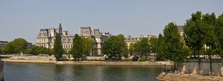 district LE marais πανόραμα Παρίσι Στοκ Φωτογραφίες