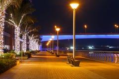 District Marina in Dubai at night Royalty Free Stock Image
