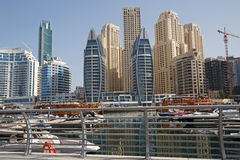 District Marina in Dubai Royalty Free Stock Photo
