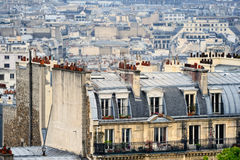 District Montmartre. Roofs in residential quarter of Montmartre in Paris Royalty Free Stock Images
