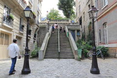 District of Montmartre at Paris Stock Photography